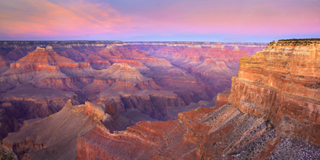 The aptly named grand canyon showcases cliffs that change color with